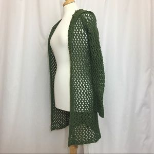 Green loose knit Abercrombie & Fitch cardigan